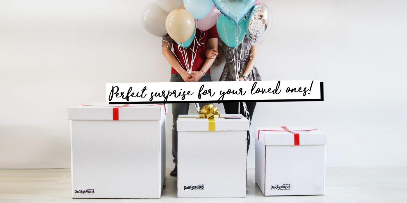 Partysaurusland Jual Balon Surprise Box
